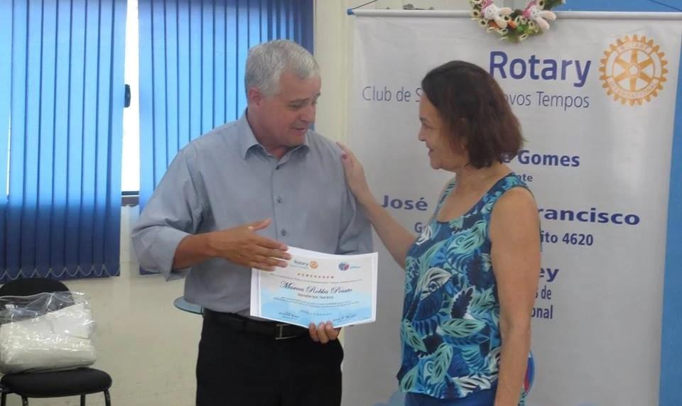 Homenagem no Rotary Club de Sorocaba novos tempos